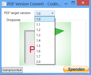 PDF Version Convert